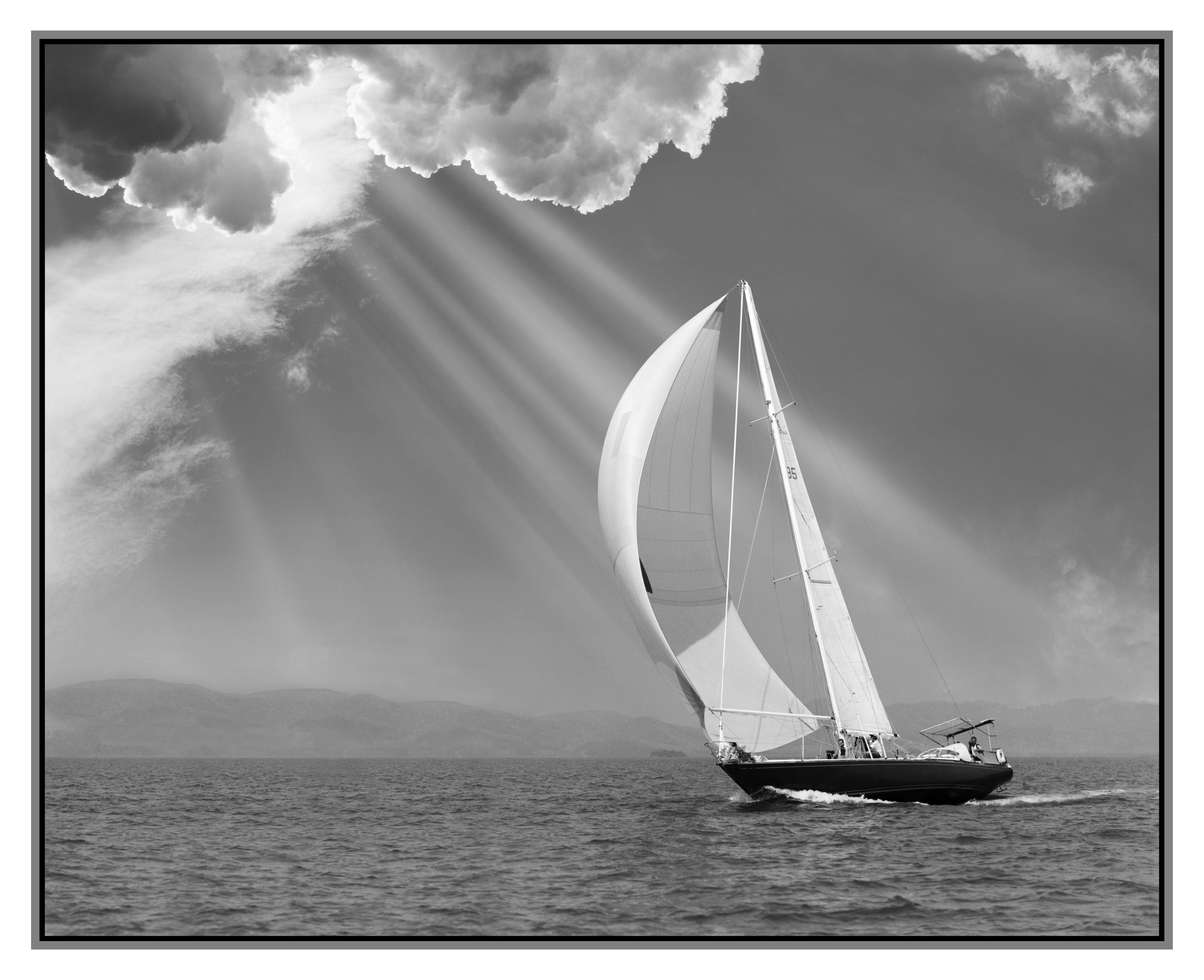 Sailing under sunbeams, L'Anse Bay, Michigan '13(Border)