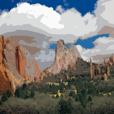 Garden of the Gods, Colorado Springs, Colorado 96 - painterly