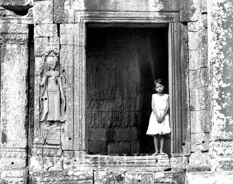 Girl At Angkor Thom, Siem Reap, Cambodia 03