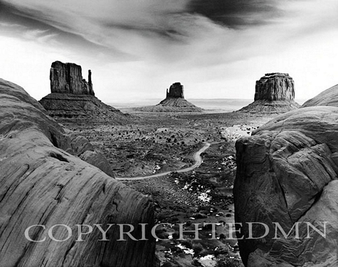 The Mittens And Merrick Butte, Monument Valley, Arizona