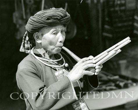 Tribal Musician, Chaing Rai, Thailand