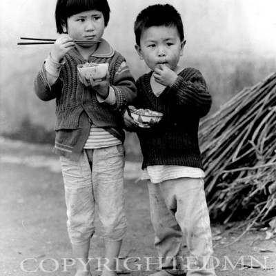 Two Children, Yan Shan, China