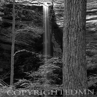 Ash Cave Falls Through Trees, Hocking Hills, Ohio 02