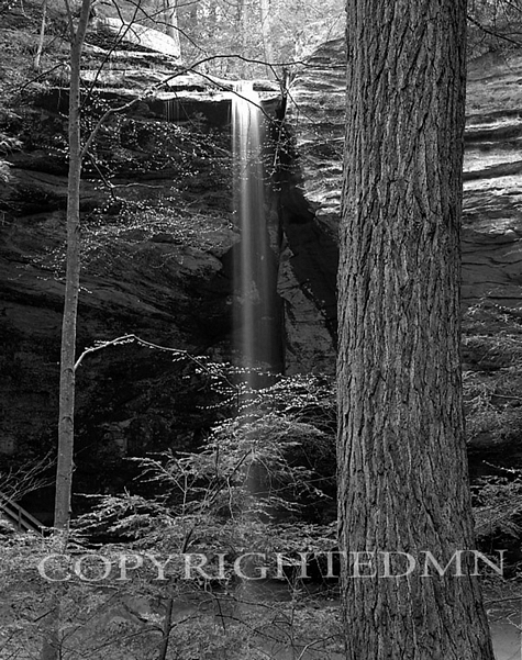 Ash Cave Falls Through Trees, Hocking Hills, Ohio 02