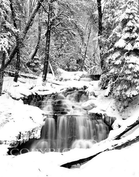 Wagner Falls In Winter, Munising, Michigan 91
