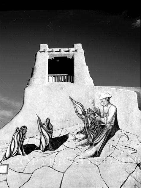 Wall Carvings At Indian Ruins, Sante Fe, New Mexico 98