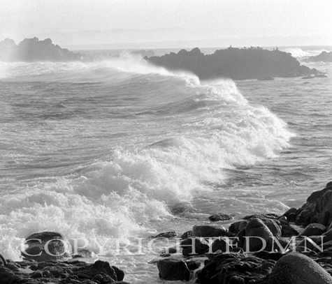 Waves At Pacific Grove, California 95