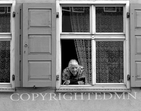 Woman In Window, Dinkelsbuhl, Germany 87