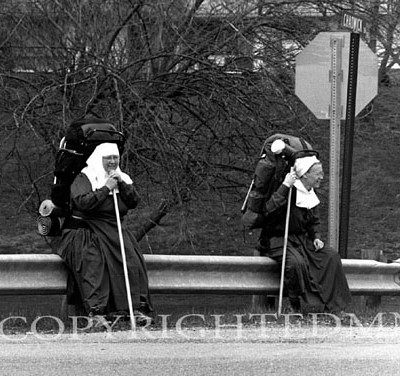 Backpacking Nuns, Athens, Ohio
