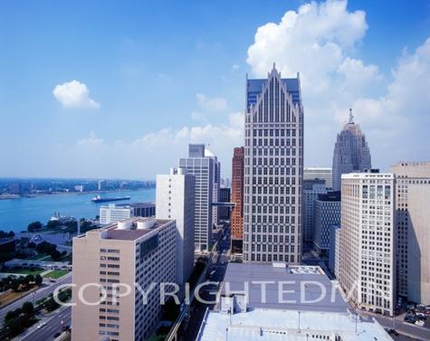 Detroit City View #3, Detroit, Michigan 07 – Color