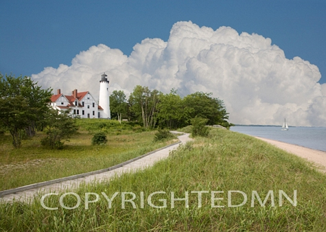 Port Iroquois Lighthouse, Bay Mills, Michigan 08 – Color