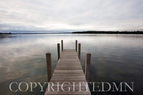 Dock at Crooked Lake, Conway, Michigan 09 – color