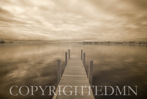 Dock at Crooked Lake, Conway, Michigan 09 – IR