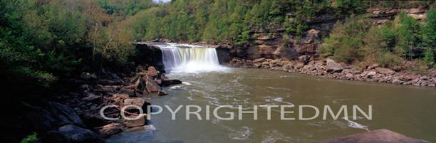 Cumberland Falls Panorama, Tennessee 08 – Color Pan