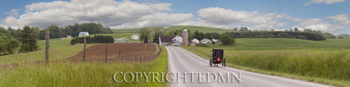 Amish Farm Panorama, Holmes County, Ohio 10-color