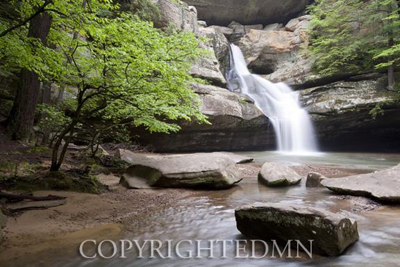 Cedar Falls In Morning, Hocking Hills, Ohio 10-color