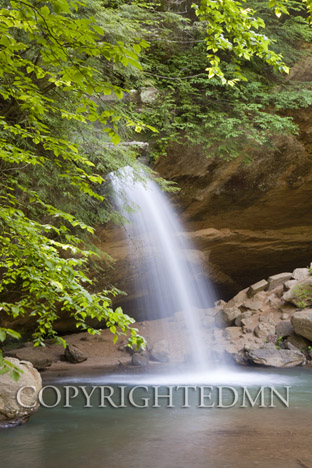 Lower Falls-Old Mans Cave #2, Hocking Hills, Ohio 10-color