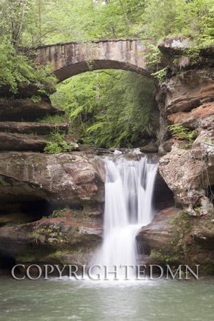 Stone Bridge & Falls, Hocking Hills, Ohio 10-color