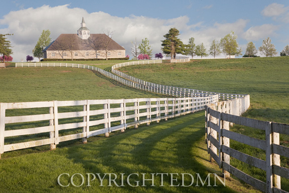 Winding Fence & Barn, Lexington, Kentucky 10-color