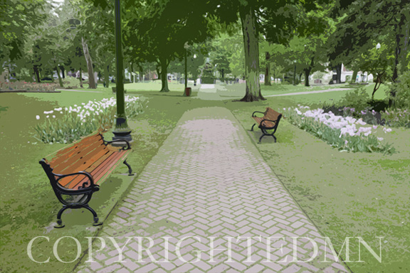 Centennial Park, Holland, MI 10- painterly