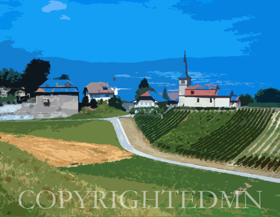 Country View, Avenches, Switzerland04 – painterly