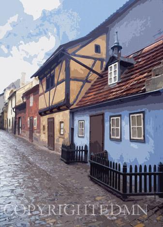 Golden Lane, Czech Republic 90 – Color