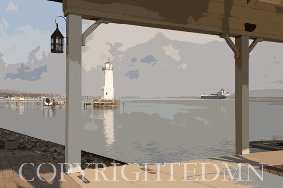 Grosse lle Lighthouse #1, Detroit, Micigan 09 – painterly
