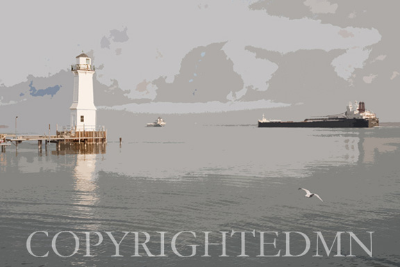 Grosse lle Lighthouse, Detroit, Micigan 09 – painterly