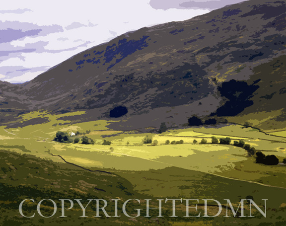 Lake District Valley, England 89 – painterly