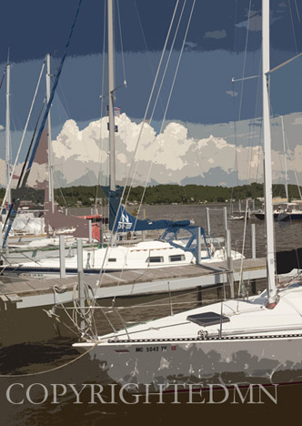 Saugatuck Marina, Saugatuck, Michigan 10 – painterly