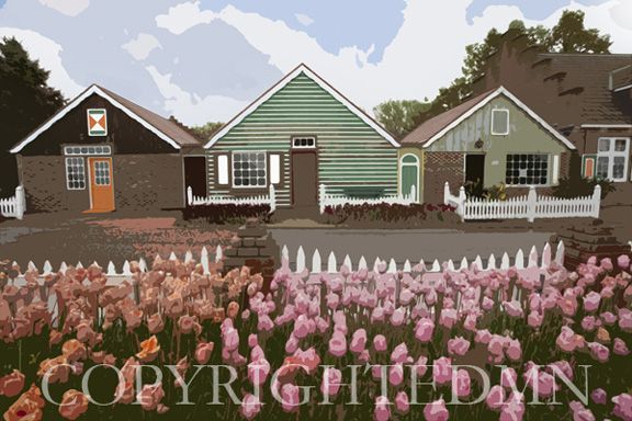 Three Cottages, Holland, MI 10- painterly