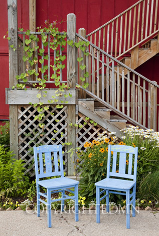 Two Blue Chairs, Saugatuck, Michigan 10 – color