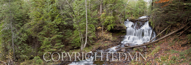 Wagner Falls Panorama, Munising, MI 10-Color Pan