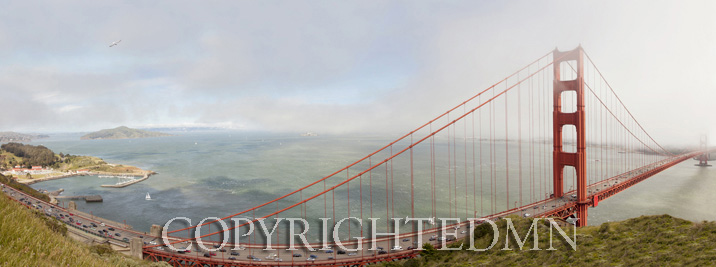 Golden Gate Panorama, San Fransisco, California 11 – color