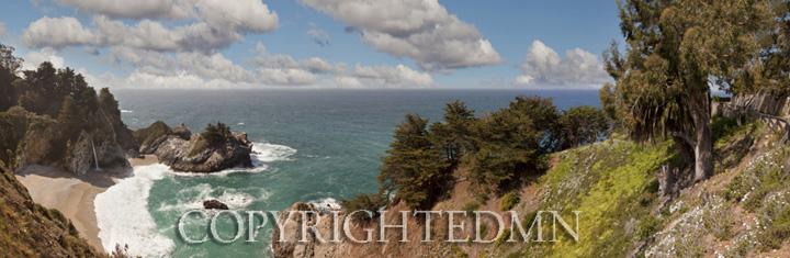 McWay Falls Panorama, Big Sur, California 11 – color