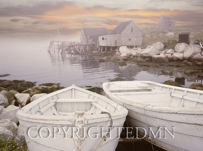 Two Boats At Sunrise, Nova Scotia 11 – color