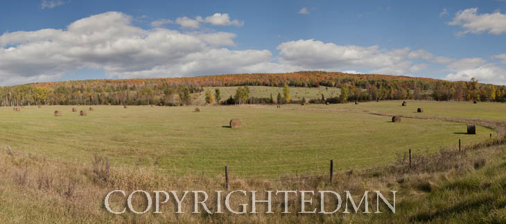 Field & Sky Panorama, Bruce Crossing, MI 11 – color pan