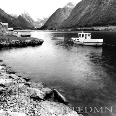 Boat In Fjord, Norway 00