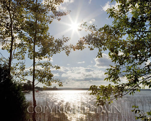 Sunburst at Crooked Lake, Conway, Michigan 09 – color