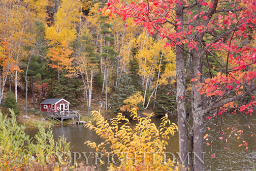 Boathouse In Autumn, Marquette, Michigan 12- Color