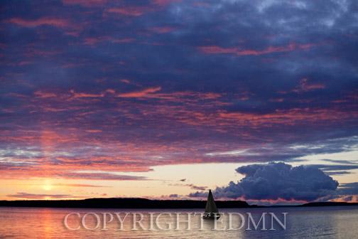 Sunrise On Moran Bay, St. Ignace, Michigan 12-color