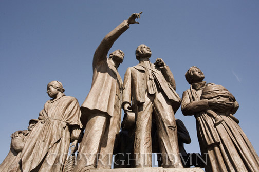 Underground Railroad Monument, Detroit, Michigan 07 – Color