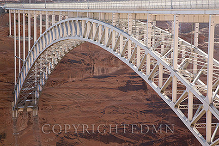 Bridge at Glen Canyon Dam, Page, Arizona 13 – Color