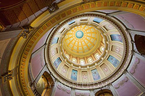 Capitol Dome, Lansing, Michigan 13 – Color
