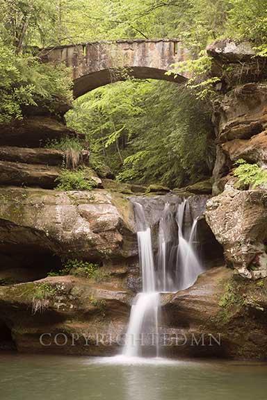 Stone Bridge & Falls, Hocking Hills,Ohio 13-color
