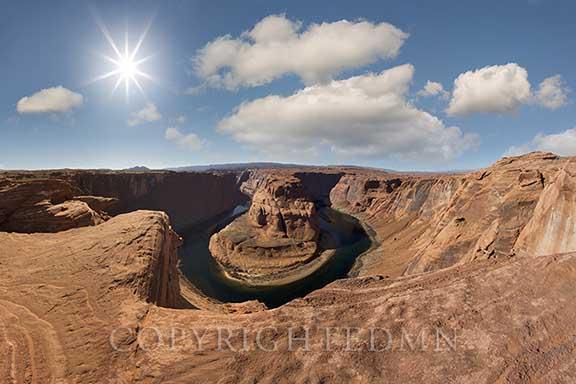 Sunburst at Horseshoe Bend, Page, Arizona 13 – Color