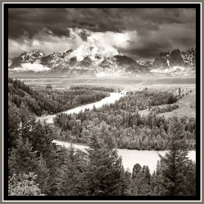 Snake River & The Tetons - Geometric