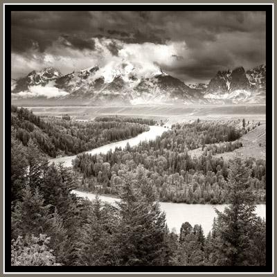 Snake River & The Tetons - Geometric