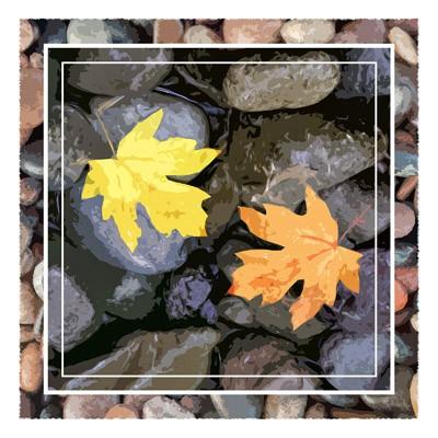 Two Leaves - Geometric