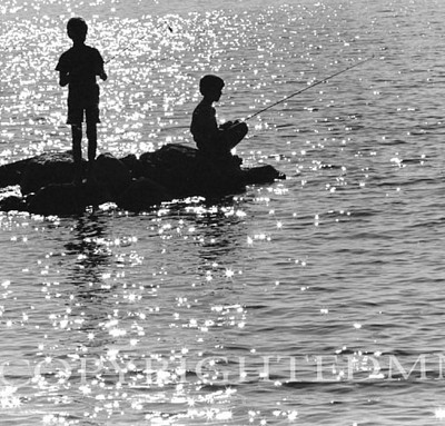 Boys Fishing, Northport, Michigan